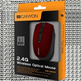 CANYON CNS-CMSW5 wireless optikai piros-fekete egér (CNS-CMSW5R)