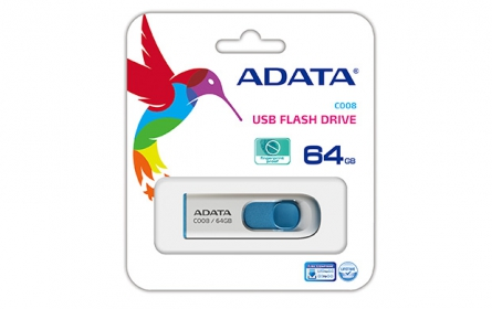 ADATA C008 64GB USB memória Fehér+Kék (AC008-64G-RWE)
