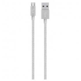 Belkin Premium Mixit ezüst micro USB kábel (  F2CU021BT04-SLV)