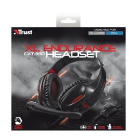 TRUST GXT 330 XL Endurance mikrofonos fekete gamer fejhallgató (19999)