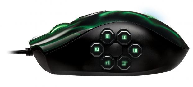 RAZER Naga Hex USB lézer fekete-zöld gamer egér (RZ01-00750100-R3M1)