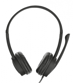 TRUST Mauro USB mikrofonos fekete fejhallgató (17591)