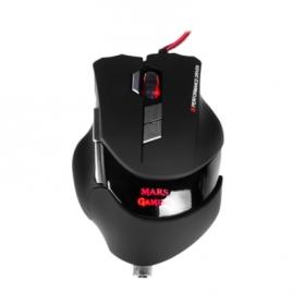 MARS MM3 USB lézer fekete gamer egér