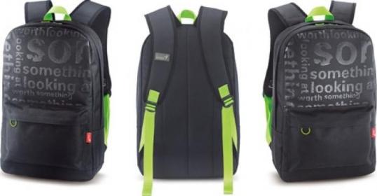 Genius GB-1500X notebook hátitáska 15,6'' Fekete-Zöld (31280057101)