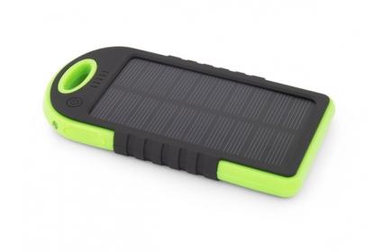 Esperanza SUN 5200mAh fekete-zöld napelemes PowerBank (EMP109KG9