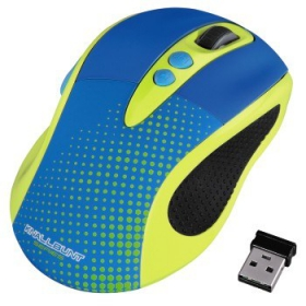 HAMA KNALLBUNT 2.0 wireless optikai kék-sárga egér (86545)