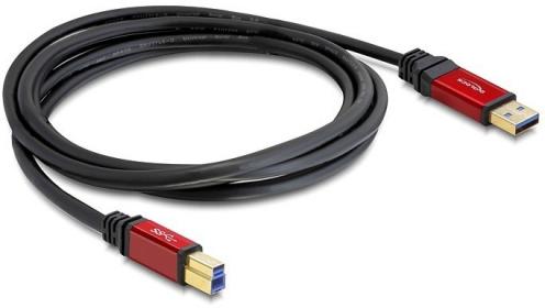 Delock USB 3.0-A > B apa / apa, 3 m prémium kábel (82758)