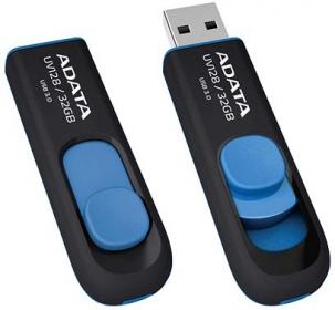 Adata USB Memory DashDrive UV128 8GB Fekete-Kék (AUV128-8G-RBE)