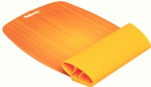 Fellowes 9362401 szilikon csuklótámaszos narancssárga egérpad