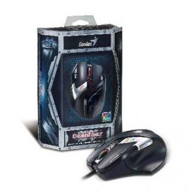 GENIUS Deathtaker USB optikai fekete-ezüst gamer egér (DEATHTAKER_USB)