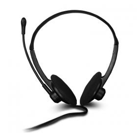 Canyon CNR-FHS04 mikrofonos fekete fejhallgató