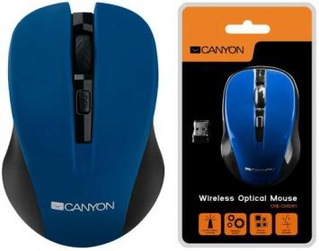 CANYON CMSW1O wireless optikai kék-fekete egér (CNE-CMSW1BL)