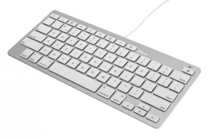 Trust 20412 multimédiás fehér billentyűzet iPadhoz és iPhonehoz