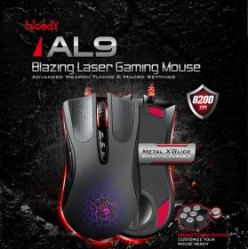 A4-Tech Bloody Blazing AL9 USB lézer gamer fekete egér