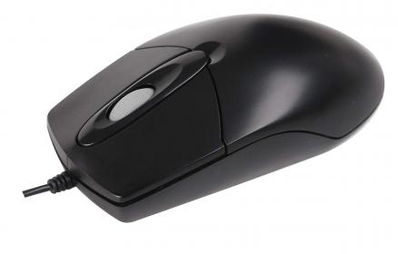 A4-Tech OP-720 USB optikai fekete egér