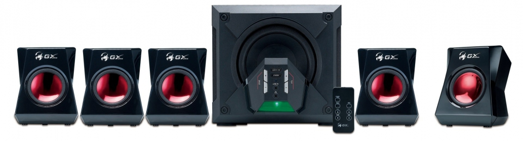 Genius SW-G5.1 3500 Fekete-Piros Gamer Hangszóró (31731017100)