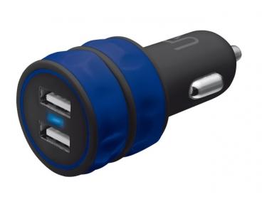 Trust Urban kék dupla USB-s autós töltő okostelefonhoz (20156)