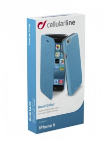 Cellularline Book Color iPhone 6 kék telefontok (BOOKCOLORIPH647B)