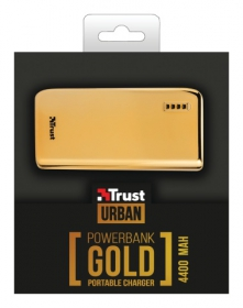 Trust 20901 4400 Portable Charger arany PowerBank