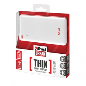 Trust Urban 4000T thin Portable Charger fehér PowerBank (20907)