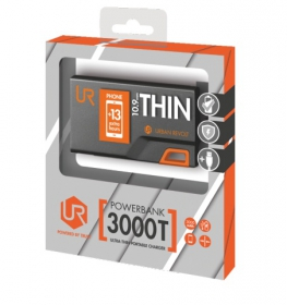 Trust Urban 3000T thin Portable Charger fekete-narancs PowerBank (20236)