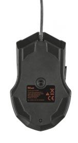 Trust GXT 101 USB optikai fekete gamer egér (21044)
