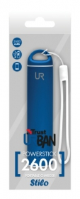 Trust Stilo PowerStick Portable Charger 2600 kék PowerBank (20694)