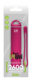 Trust Stilo PowerStick Portable Charger 2600 pink PowerBank (20698)