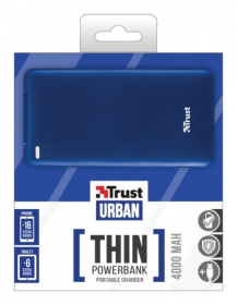 Trust Urban 4000T thin Portable Charger kék PowerBank (20908)