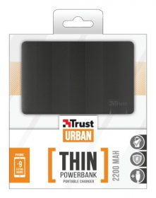 Trust Urban 2200T Ultra- thin Portable Charger fekete PowerBank (20912)