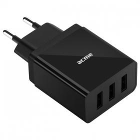 ACME  3.4A univerzális 3x USB hálózati töltő (CH206)