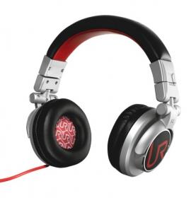 Trust Urban Revolt Rimix mikrofonos fekete-piros-ezüst fejhallgató (19710)