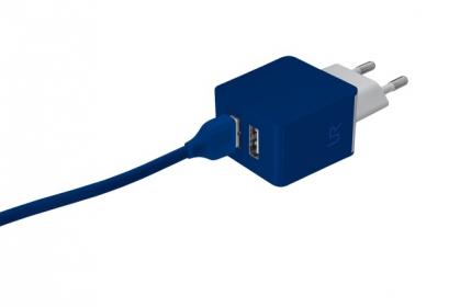 Trust Urban kék dupla USB-s töltőfej okostelefonhoz (20148)