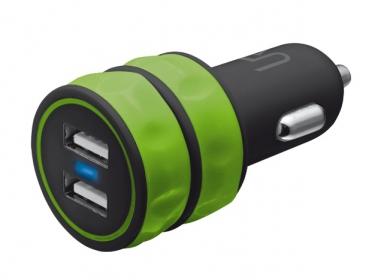 Trust Urban zöld dupla USB-s autós töltő okostelefonhoz zöld(20158)