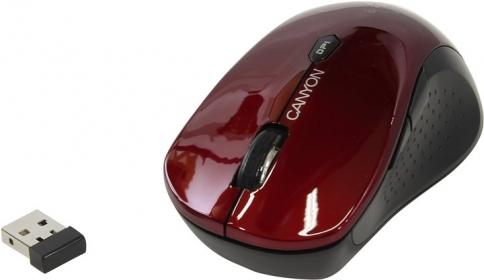 Canyon CNS-CMSW4R wireless optikai piros-fekete mintás egér
