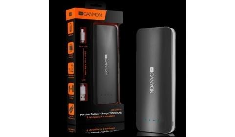 CANYON CNE-CPB156 15600 mAh fekete PowerBank (CNE-CPB156DG)