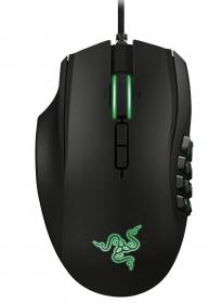 Razer Naga 2014 USB lézer fekete-zöld balkezes gamer egér (RZ01-01050100-R3M1)