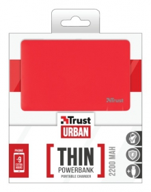 Trust Urban 2200T Ultra- thin Portable Charger piros PowerBank (20913)