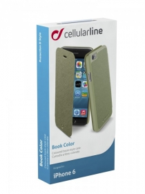 Cellularline Book Color iPhone 6 zöld telefontok (BOOKCOLORIPH647G)