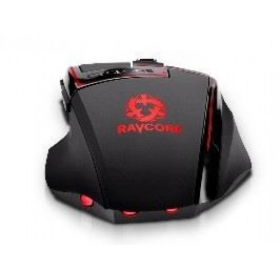 RAVCORE Cyclone Avago 9800 USB lézer fekete-piros gamer egér (RAVMYS45244)