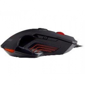 RAVCORE Tempest Avago 9800 USB lézer fekete-piros gamer egér (RAVMYS45156)