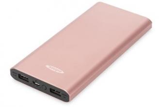 EDNET Power Bank SLIM LINE 2xUSB   10000mAh arany pink (31900)