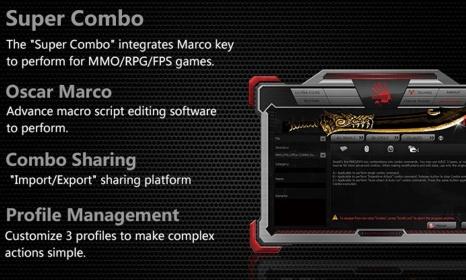 Gaming billnetyűzet A4Tech Bloody B318, US kiosztás fekete (A4TKLA45719)