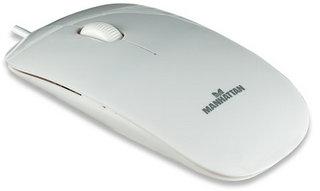 Manhattan Silhouette Mini optikai egér USB 1000dpi fehér (177627)