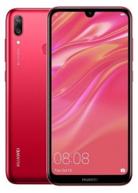 HUAWEI Y7 2019 32GB Dual SIM korall piros okostelefon (51093WDH)
