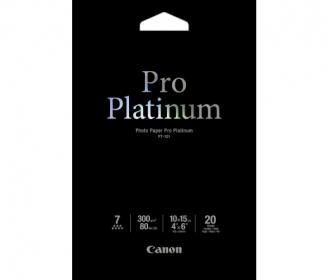 Canon Pro Platinum PT-101 10X15 cm 20 db-os fényes fotópapír (2768B013)