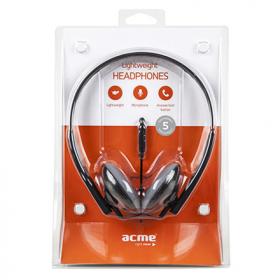 ACME HA10 fekete mikrofonos fejhallgató (ACFHHA10)