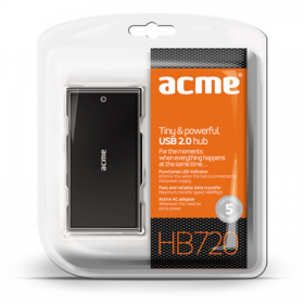 ACME HB720 Tiny & Powerful 7 portos fekete USB Hub (ACUHB720)