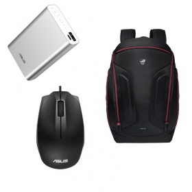 ASUS BAG-17-NOMADPB-BK 17,3'' fekete notebook hátizsák + WT425 wireless egér + 10050 mAh PowerBank