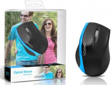 Canyon CNR-MSO01NBL USB optikai fekete-kék egér